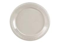 Clear plastic dinner plate