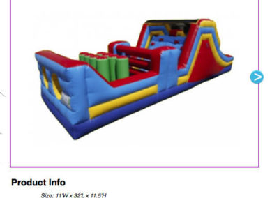 32' Obstacle Course $200