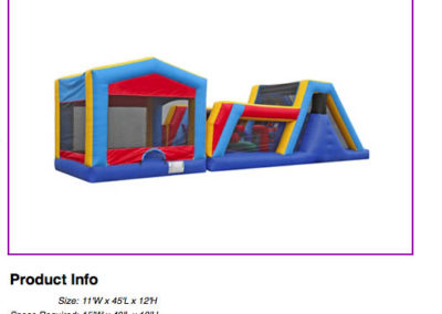 45' Fun House Obstacle Course $250