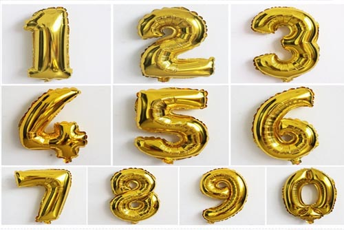 Birthday Party Balloons numbers