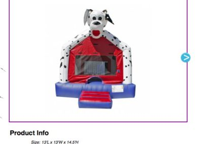 Dalmation Bouncer $75