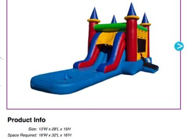 EZ Castle Combo Waterslide $195