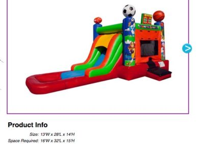 EZ Sports Combo Waterslide$195