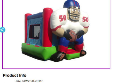 Football Bouncer $80
