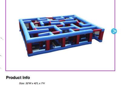 Inflatable Maze $450