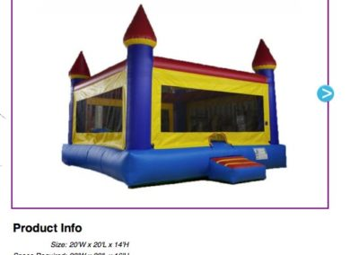 Jumbo Castle  $150