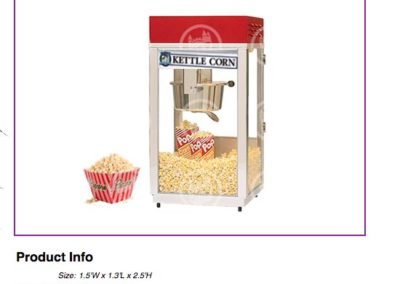 Kettle Corn Machine $85