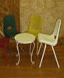Kids Plastic: Metal Chair Multi color $1.75