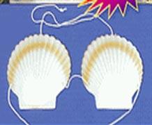 Luau Adult Shell Bra