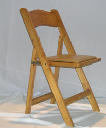 Natural wood chair with Paded seat $2.25