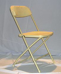 Plastic Folding Chair (Ivery/white) $1