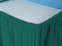 Plastic table skirt