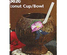 Real Coco Cup Flower Cup Straw