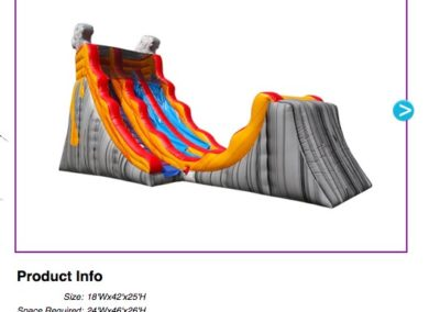 Volcano Lava Water Slide $450