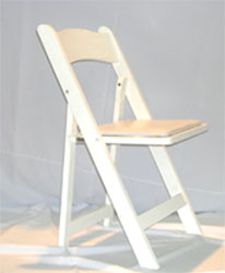 White wood chair Padded $1.5